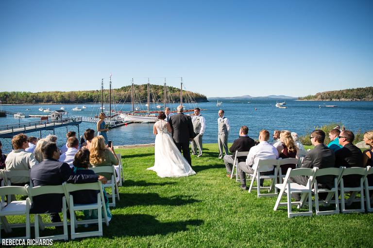Outdoor Wedding At The Bar Harbor Inn
